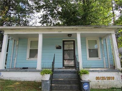 Petersburg Single Family Home For Sale: 524 St Luke Street