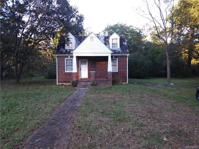 South Chesterfield VA Single Family Home For Sale: $150,000