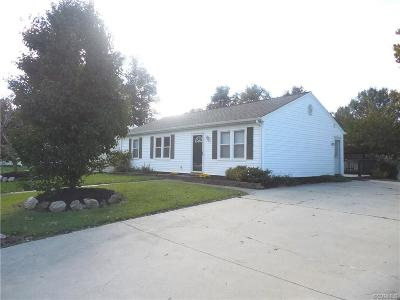 Colonial Heights VA Single Family Home For Sale: $142,000