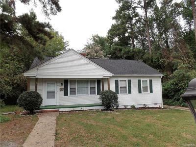 Richmond VA Single Family Home For Sale: $125,000
