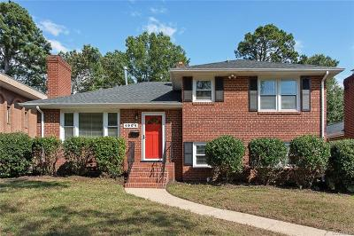 Richmond Single Family Home For Sale: 4904 Monument Avenue
