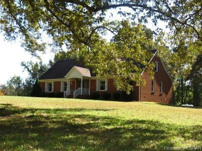 Dinwiddie County Single Family Home For Sale: 26409 Reams Drive