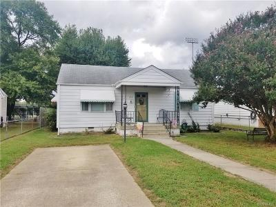 Colonial Heights VA Single Family Home For Sale: $115,000