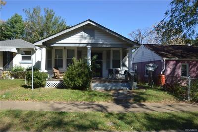 Richmond Single Family Home For Sale: 1712 Claiborne Street