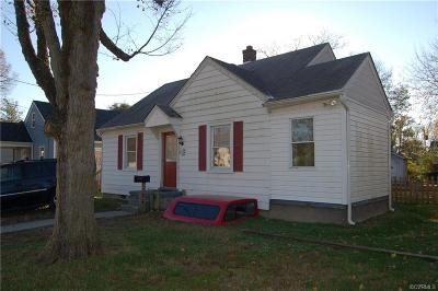 Colonial Heights VA Single Family Home For Sale: $90,500