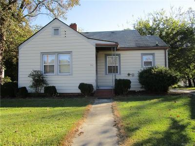 Colonial Heights VA Single Family Home For Sale: $113,000