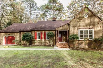 Dinwiddie Single Family Home For Sale: 5730 Deep Forest Road