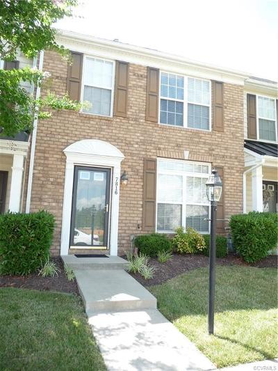 Chesterfield VA Condo/Townhouse For Sale: $194,950