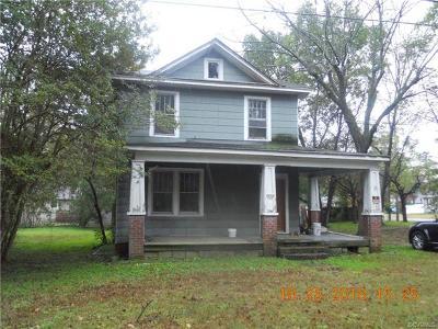 Hopewell Single Family Home For Sale: 3020 Davison Ave