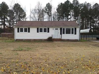 Single Family Home For Sale: 3605 Union Branch Road