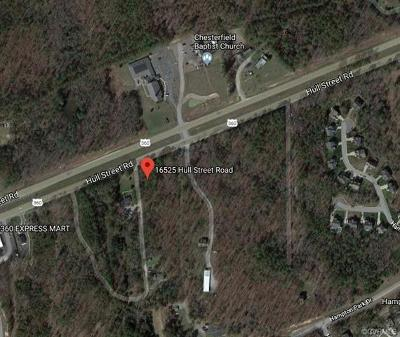 Chesterfield County Residential Lots & Land For Sale: 16525 Hull Street Road
