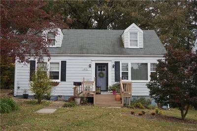 Colonial Heights VA Single Family Home For Sale: $129,950