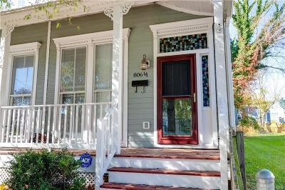 Richmond Single Family Home For Sale: 806 1/2 N 25th Street