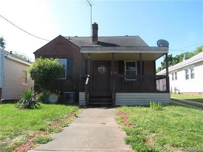 Petersburg Single Family Home For Sale: 1648 West Washington Street