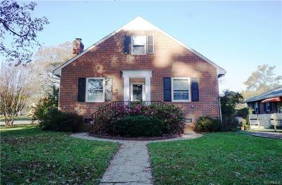 Henrico County Single Family Home For Sale: 1500 Lake Avenue