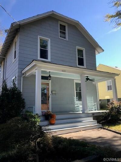 Richmond Single Family Home For Sale: 603 West 28th Street