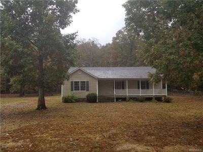 Dinwiddie Single Family Home For Sale: 23101 Pheasant Court