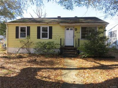 Hopewell Single Family Home For Sale: 1610 Tabb Avenue