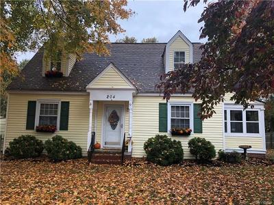 Colonial Heights Single Family Home For Sale: 204 North Valley Road