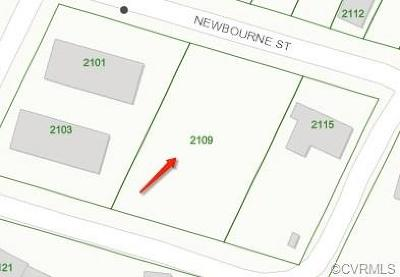 Richmond Residential Lots & Land For Sale: 2109 Newbourne Street