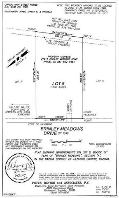 Henrico County Residential Lots & Land For Sale: 7011 Brinley Meadows Drive