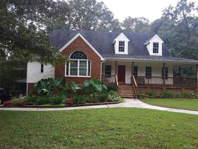 Dinwiddie Single Family Home For Sale: 13726 Lawing Drive