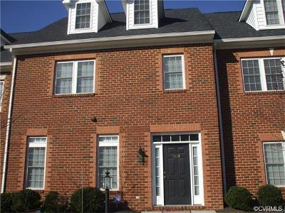 Henrico County Rental For Rent: 3418 Bartley Pond Place