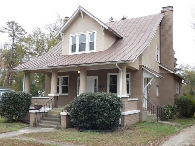 Petersburg Single Family Home For Sale: 1016 West South Boulevard