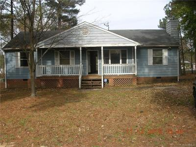 Dinwiddie County Single Family Home For Sale: 5100 Olympic Lane