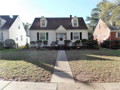 Richmond VA Single Family Home For Sale: $195,000