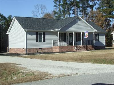 Dinwiddie Single Family Home For Sale: 4102 Kenneth Drive