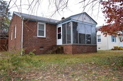 Colonial Heights VA Single Family Home For Sale: $131,000