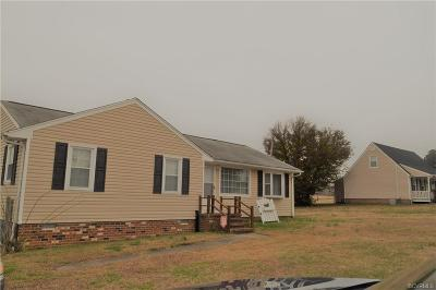 Sutherland VA Single Family Home For Sale: $139,900