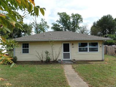 Richmond VA Single Family Home For Sale: $106,000