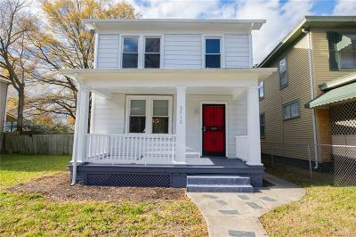 Richmond Single Family Home For Sale: 2912 Woodcliff Avenue
