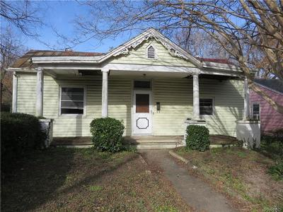 Petersburg Single Family Home For Sale: 741 Kirkham Street
