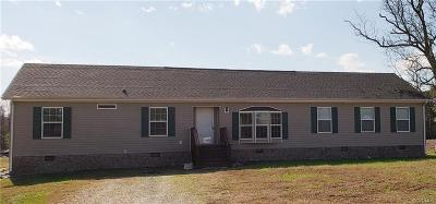Dinwiddie County Single Family Home For Sale: 25221 Sawmill Road