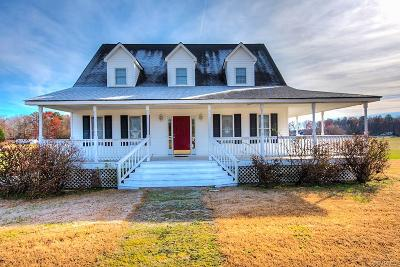 Dinwiddie County Single Family Home For Sale: 6101 Trinity Church Road