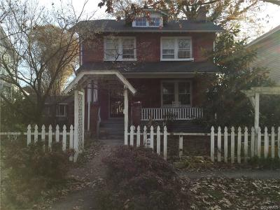 Richmond VA Single Family Home Sold: $185,000