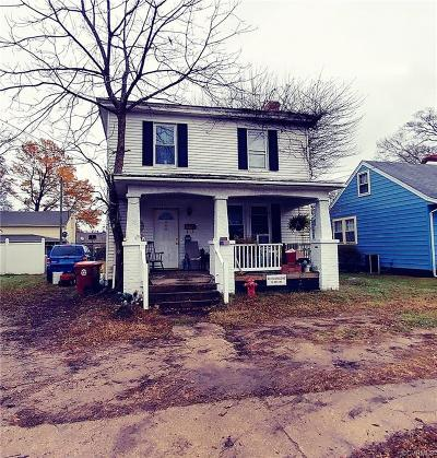 Colonial Heights VA Single Family Home For Sale: $74,950