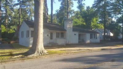 Petersburg VA Single Family Home Pending: $84,950