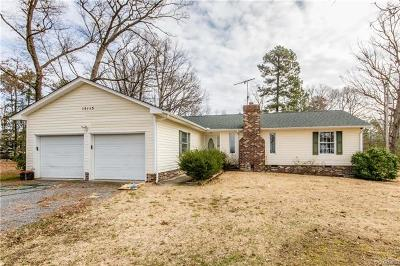 Dinwiddie Single Family Home For Sale: 15113 Keelers Mill Road