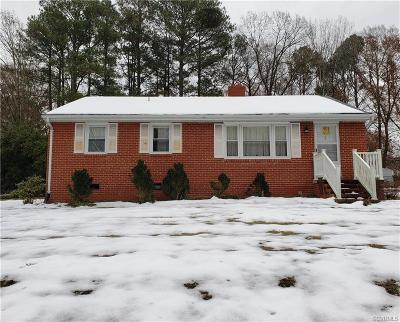 Henrico Single Family Home For Sale: 1805 Pump Road