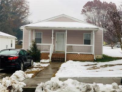 Petersburg VA Single Family Home For Sale: $69,500