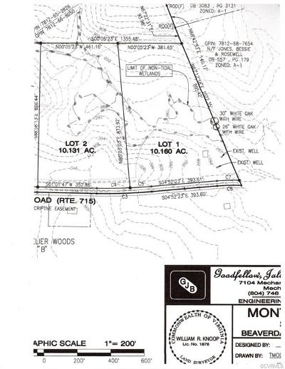 Hanover County Residential Lots & Land For Sale: Beaver Dam Road