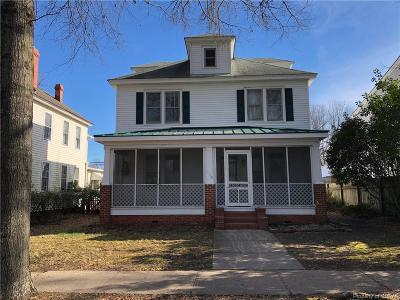 King William County Single Family Home For Sale: 1118 Main St