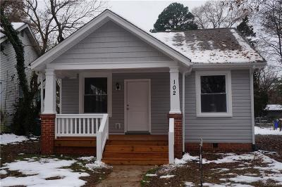 Richmond Single Family Home For Sale: 102 East 34th Street