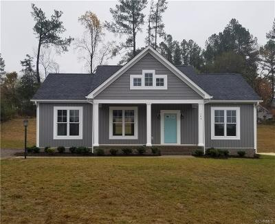Nottoway County Single Family Home For Sale: Lot C Green Hill Road