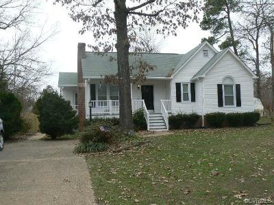 Chesterfield VA Single Family Home For Sale: $192,500