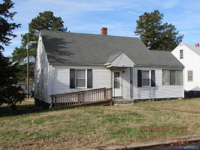 Nottoway County Single Family Home For Sale: 32 Pickett Court